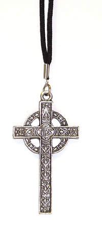 Celtic Cross with Antique Silver Finish (#2988)