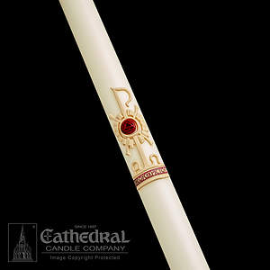 Paschal Candle Holy Trinity 51% Beeswax