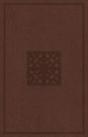 ESV Holy Bible, Value Edition (Truflat, Walnut, Celtic Imprint Design)