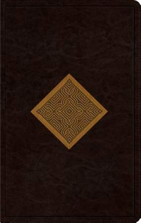 ESV Thinline Bible (Trutone, Brown/Goldenrod, Diamond Weave Design)