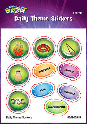 Standard VBS 2015 Blast to the Past Daily Theme Stickers (6)