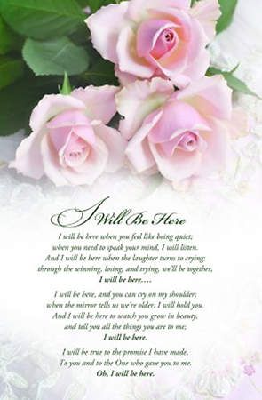 I Will Be Here Wedding Bulletin, Regular Size, Pack of 100
