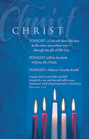 "Advent Christ Bulletin Matthew 1:23 Regular 8.5"" x 11"" (Package of 100) - WEEK 5 option"