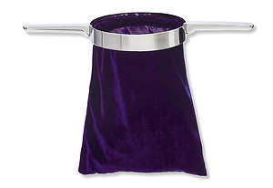 Offering Collection Bag with Handle - Purple