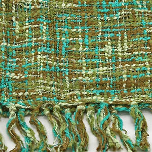 Thai Cozy Scarf - Olive/Teal