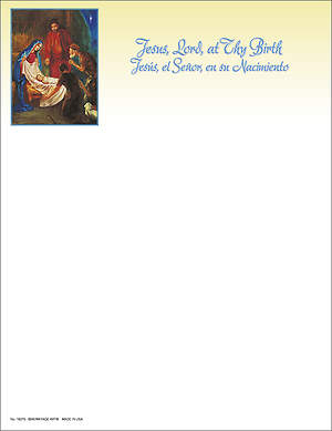 Christmas Traditional Nativity Letterhead Bilingual (Package of 100)