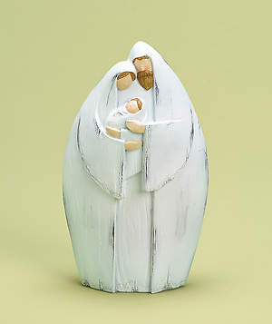 White Wash Holy Family - 7.75 inches