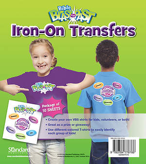 Standard VBS 2015 Blast to the Past Iron-On Transfers (10)