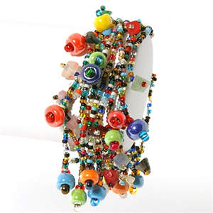 Guatemala Colorful Bead Bracelet - Adjustable  Multi-colors