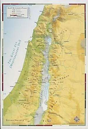Abingdon Bible Land Map--Israel's Settlement in Canaan