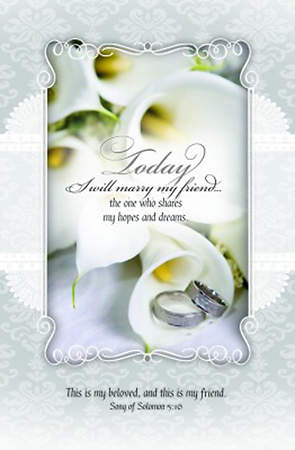 Today I Will Marry My Friend - Wedding Bulletin, Regular (Package of 100)