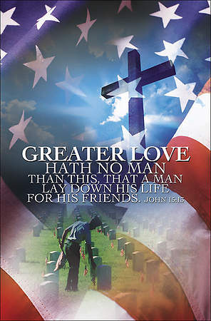 Greater Love Memorial Day Bulletin (Package of 100)