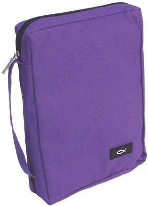 Bible Cover Dahlia Purple Medium