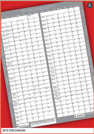 Official United Methodist Program Calendar 2015 Wall (18