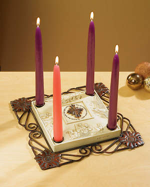 Star of Christmas Advent Candleholder (Includes Four Candles)