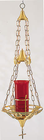 Sanctuary Lamp Hanging Gold Plated