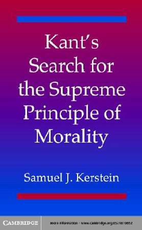 Kant's Search for the Supreme Principle of Morality [Adobe Ebook]