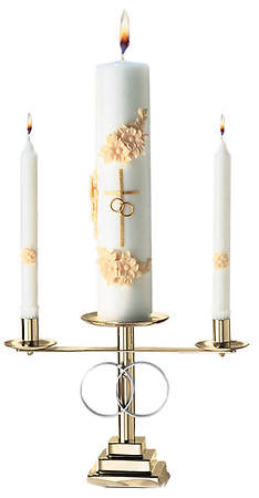 Wedding Candle Set Brass