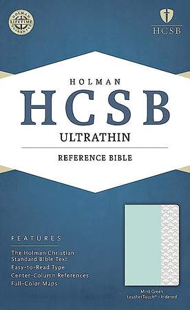 HCSB Ultrathin Reference Bible, Mint Green Leathertouch, Indexed