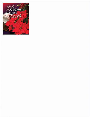 Peace on Earth/Christmas Poinsettia Letterhead 2013 (Package of 50)