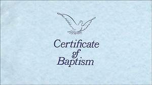 Certificate of Baptism Package of 26
