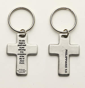 The Way Forward Cross Keychain
