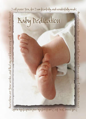 Certificate of Baby Dedication Package of 6