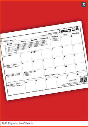 Official United Methodist Program Calendar 2015 Reproducible (11