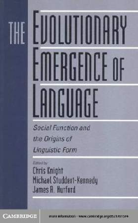 The Evolutionary Emergence of Language [Adobe Ebook]
