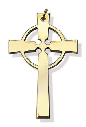 GOLD PLATED CELTIC CLERGY CROSS