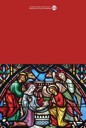 Stained Glass Nativity Christmas Cards (Pack of 12)