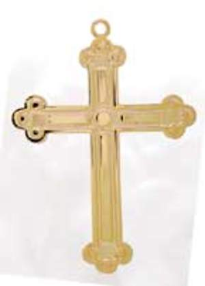 Gold Budded Choir Cross with 30