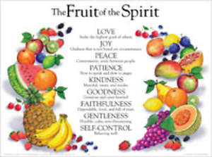 The Fruit Of The Spirit Wall Chart - Laminated