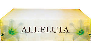 Alleluia Lily Easter Linen Series Altar Frontal