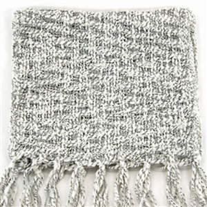 Thai Cozy Scarf - White/Black