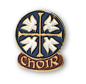 Four White Doves Choir Pin