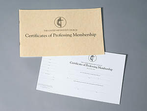 United Methodist Membership Flat Certificate (Pad of 26)