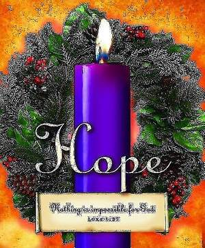 Advent Sunday 1 Purple Bulletin 2013, Large Size (Package of 50)