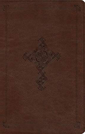 ESV Ultrathin Bible (Trutone, Brown, Antique Cross Design)
