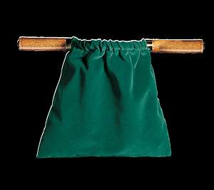 Large Two Handled Offering Bag Brass - Green