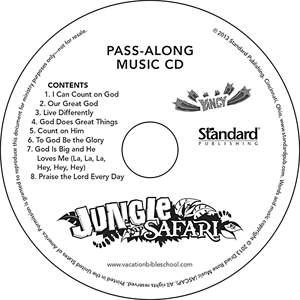 Standard VBS14 Jungle Safari Pass-Along Music CDs (10)