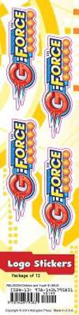 Vacation Bible School (VBS) 2015 G-Force Logo Stickers (Pkg of 12)