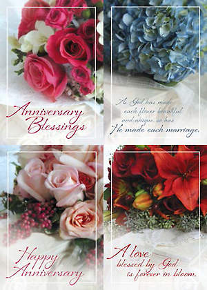 Forever in Bloom - Anniversary Boxed Cards - Box of 12