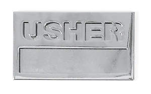 Silver Usher Name Badge