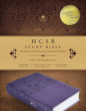HCSB Study Bible, Purple Leathertouch, Indexed