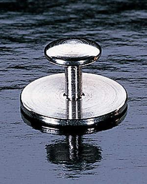 Simple Nickel Plate Stud Collar Button with Mid-Length Post (Pair)
