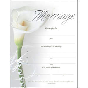 Marriage Certificate-Premium Silver Foil Embossed