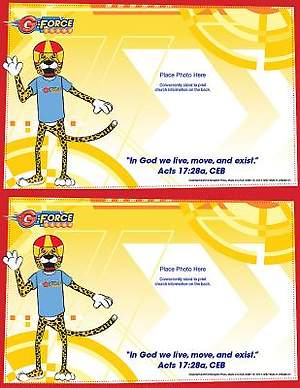 Vacation Bible School (VBS) 2015 G-Force Follow-Up Photo Frames (Package of 50)