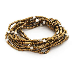Java Wrapped in Beads Bracelet - Bronze
