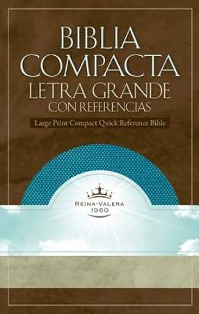 Rvr 1960 Large Print Compact Quick Reference Bible - Aquamarine